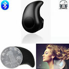 Black Mini Wireless Bluetooth Stereo Headset Headphone For Apple iPhone 7 6 6S 5