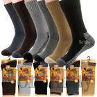 Lot 1-12 Pairs Mens Wool Boots Thermal Crew Socks Working Winter Warm Size 10-13