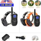 Pet Waterproof Rechargeable Dog Training Trainer Collar Shock Collar with Remote