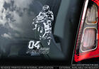 Andrea Dovizioso #04 Car Window Sticker Moto GP Dovi MotoGP Decal Sign V02