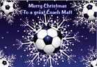 PERSONALISED CHRISTMAS FOOTBALL PLAYER FAN HUBBY DAUGHTER COACH SON ANY RELATIVE