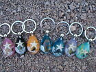 Under the Sea -Real Sea Stallion or Starfish with shells  keychain in 6 colors