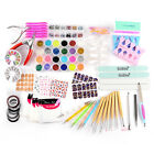 23 in 1 Nailart Design Set Strass Steine Nageltipps Schleifblock Nailart Pinsel