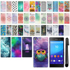 For Sony Xperia M5 HARD Protector Back Case Phone Cover + PEN