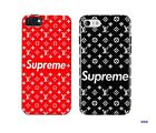 New Supreme Red/Black Stylish Hard Cover Case For iPhone 6/6S, 7, 8, 8 Plus & X