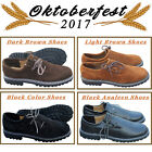 German Bavarian Trachten Oktoberfest Lederhosen 3 Colors Men Suede Leather Shoes