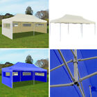 10' x 20 Pop-up Patio Wedding Tent Foldable Outdoor Party Marquee Gazebo Canopy