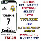 Personalized Real Madrid White Jersey Phone Case fits iPhone Samsung HTC LG etc