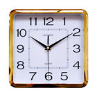 Plastic Frame Digital Wall Clock Non ticking Silent Mordern Atomic with Number