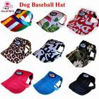 Cute Dog or Cat Hat Cap for Summer Sun with Ear Holes & Adjustable Neck Strap