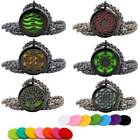 Stainless Steel Aroma Pendant Essential Oil Diffuser Locket Necklace Gift Black on eBay