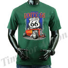ROUTE 66 with shield HISTORIC 66 Vintage Classic Car Hot Rod T-shirts