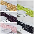 "14"" x 108"" 3D Floral Table Runner Wedding Party Catering Reception Decorations"