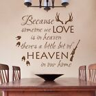 Because Someone We Love Wall Sticker Living Room Home Inspired Quote Vinyl Decor