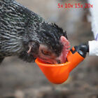 Lot Automatic Bird Coop Feed Poultry Water Drinking Cups Chicken Fowl Drinker FO