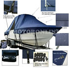 Fountain+25+Sportfish+Cruiser+Cuddy+T%2DTop+Hard%2DTop+Storage+Boat+Cover+Navy