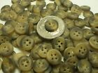 New lots of 100 or 300  buttons small brown rimed  size 7/16 inch  bulk  #BK14