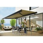 4.0m x 3.0m Retractable Folding Arm Awning Heavy Duty Full Cassette Motorised