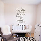 Twinkle Little Star Wall Sticker Inspirtion Quote Nursery Room Vinyl Art Decor