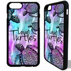 Sea Turtle love turtles phrase rubber cover case for iphone 5 6 6S 7 8 plus X