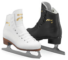 "Graf ""Ace"" White Leather Boot complete with Blades for Ice/Figure Skating NEW"