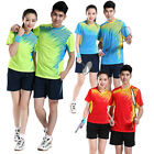 Li Ning Badminton Quick drying breathable Sports training suit t-shirt shorts