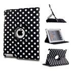 For Apple iPad 9.7 2017 5th Gen Smart Flip PU Leather 360 Stand Hard Case Cover