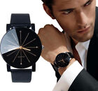 Couple Watches Mens Womens Stainless Steel Quartz Round Case Leather Wrist Watch