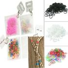 250 Mini Elastic Rubber Hair Band Bobbles Pouch Cornrow Braiding Clear Ponytail