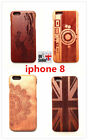 100% wood Natural hand made Real Wooden mobile phone Case cover for iphone 8