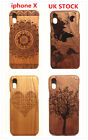 100% wood Natural hand made Real Wooden mobile phone Case cover for iphone X