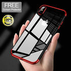 For iPhone X 8 7 iPhone8 Advantage Shockproof TPU Protective Case Cover +Temper Glass
