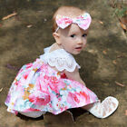 Toddler Baby Girl Kids Outfit Set Floral Princess Dress Lace Romper Skirt Party