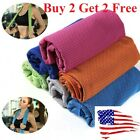 Buy 2 get 2 free ice Cooling Towel for Sports/Workout/Fitness/Gym/Yoga/Pilates image