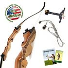"Takedown Recurve Bow 62"" Archery Hunting bow, 15-55LB. Draw weight, Right & Left"