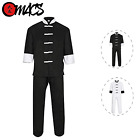 Black with White Frogs Kung Fu Uniform/Gi