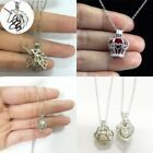9Style Oyster Pearl Bead Cage Locket Necklace Cage Pendant Xmas Love Wish Gift