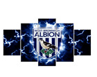 5 Piece West Bromwich Albion Football Club Painting On Canvas Print Home Decor