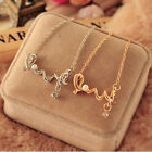 Character Letter LOVE Necklace Gold and Silver Necklace Love Pendant