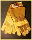 CARHARTT MEN'S LG, XL GRAIN LEATHER WORK GARDENING GLOVES w/SAFETY CUFF A518~NEW
