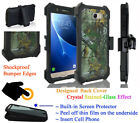 """for 5.5"""" Samsung J7 V Perx HALO Case 360° Cover Screen Protector Crystal Holster"""