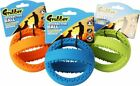 GRUBBER INTERACTIVE FOOTBALL TOUGH RUBBER TOY FOR DOGS CLEANS TEETH & GUMS