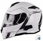CASCO MODULARE CON INTERFONO BLUETOOTH V271 DELTA MOTION WHITE per BENELLI
