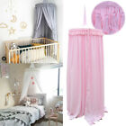 Kid Baby Bed Canopy Bedcover Mosquito Cotton Curtain Bedding Round Dome Tent