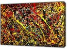 THE DRIP PAINTING BY JACKSON POLLOCK  PICTURE PRINT ON FRAMED CANVAS WALL ART