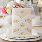 Personalized Laser Cut Printing Wedding Invitation Cards with Envelopes Seals