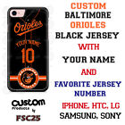 Baltimore Orioles Blk Phone Case fits iPhone X 8 PLUS iPhone 7 iPhone 6s SE etc