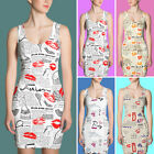 Romantic News Paper Dress-Best Novelty Gift for Her-Sublimation Cut & Sew Dress