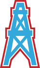Houston Oilers Vinyl Decal / Sticker 5 sizes!!
