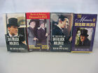 Lot of 4 Sherlock Holmes Sealed VHS Movies-Dressed To Kil-The Copper Beeches